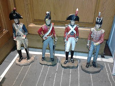 dragoons life guards and horse guards figures x 4