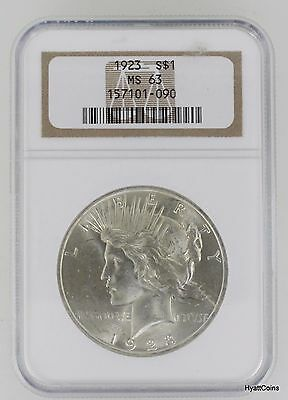 1923 Peace Silver Dollar $1 NGC MS63 (157101-090)