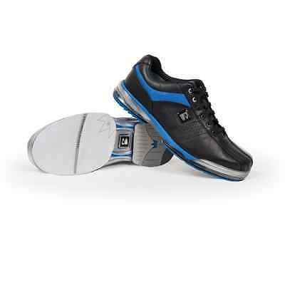 Brunswick TPU X BLACK/BLUE Mens Right Handed WIDE Interchangeable Bowling Shoes