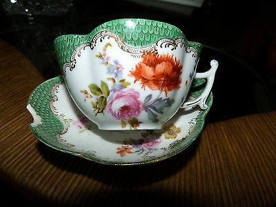 Very old Coalport /Crown Derby/German ? hand painted porcelain cup/saucer