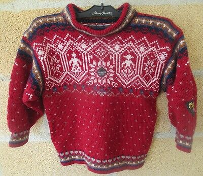 Dale Garn, Bryne Norway. Children wool knit sweater. FREE SHIPPING