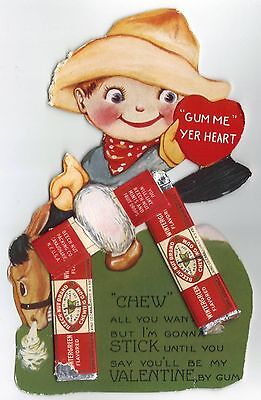 Beech Nut Chewing Gum Valentine Greeting Card With Gum 1929