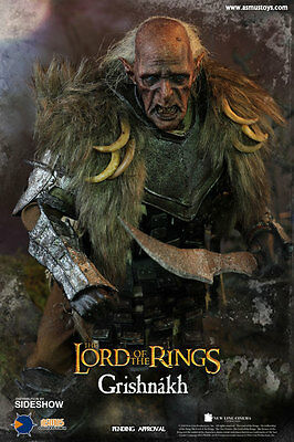 Grishnakh Sixth Scale Figure Herr der Ringe Orc Figur  1/6 Asmus Toys Sideshow