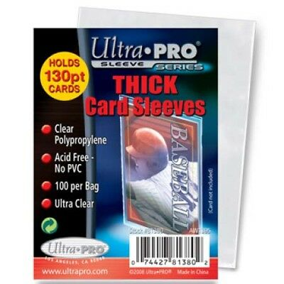200 Ultra Pro Thick Trading Card Sleeves (2 Pack) For Thick Jerseys or Patches