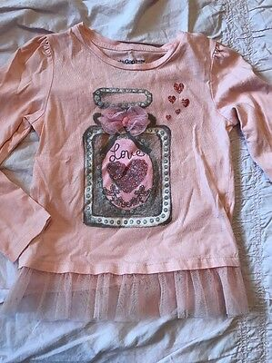 Baby Gap Toddler Girls Size 5T Love Potion, Valentine's Day Long Sleeve Shirt