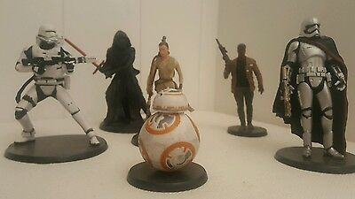 6 starwars figurine toys: bb-8 and friends
