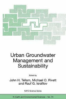 Urban Groundwater Management and Sustainability by John H. Tellam (English) Pape