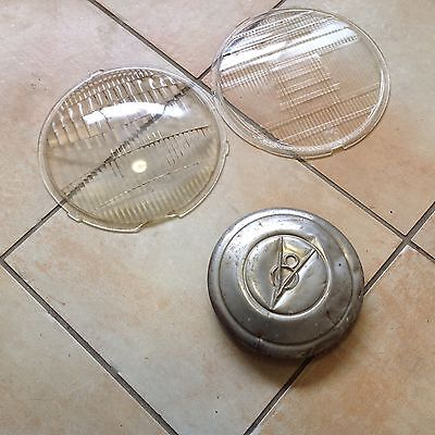 Vintage Classic Car Parts Headlight Glasses/hubcap Chevrolet Ford (Can Post)