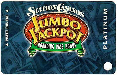 THE STATION casino *BLUE PLATINUM BOARDING PASS*Vintage BLANK~ slot/players card