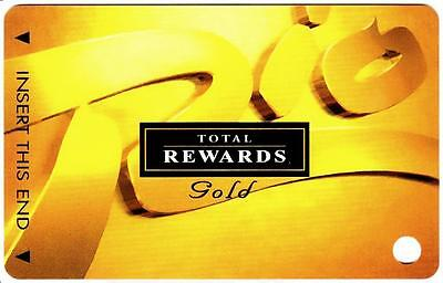 THE RIO hotel casino*TOTAL REWARDS GOLD*Vintage BLANK~ slot/players card