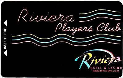 THE RIVIERA hotel casino *PLAYERS CARD *Vintage BLANK~ slot/players card