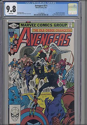 Avengers #211  CGC 9.8 1980 Marvel Comic: Tigra Joins!  NEW CGC FRAME