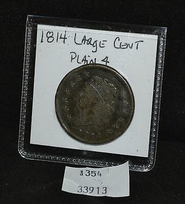 West Point Coins ~ 1814 Large Cent Plain 4