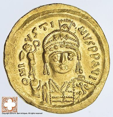 Genuine Ancient Byzantine Gold Solidus 565-578 A.D. Justin II *1830