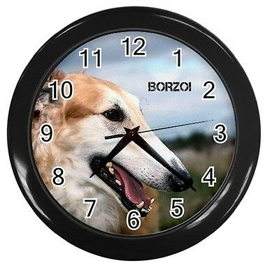 """Borzoi Russian Wolfhound Dog Round 10"""" Wall Clock Home Office Decor 112651913"""