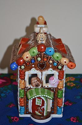 """Collectable """"Villeroy and Boch"""" Christmas Gingerbread Tea Light House."""