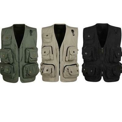Multi Pocket Mesh Vest Costume Waistcoat for Fishing Photographer Hiking Travel