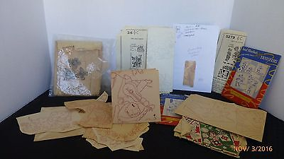 Vintage Iron On Transfer Patterns Aunt Martha Dish Towel Flower Patterns Lot