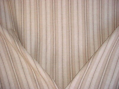 7+Y Ralph Lauren Beige / Antique White / Brown Wool Stripe Upholstery Fabric