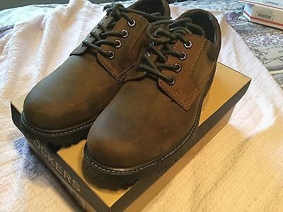 Dockers Mens Shoes Plain Toe Lace Up Oxford Brown size 10.5 M NEW NORTSTAR