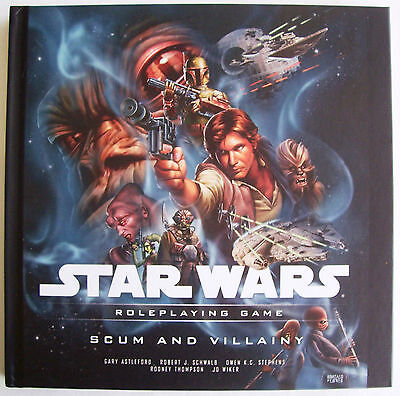 STAR WARS Role Playing Game RPG SCUM AND VILLAINY Book - New