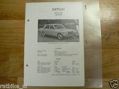 D2-Datsun 1300 En 1600 1968-1970 -Technical Info