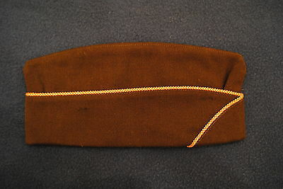 WWII Officer Quality OD Wool Signal Corps Overseas Cap 7 3/8