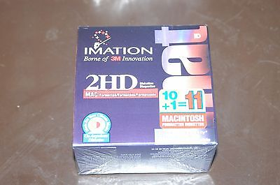 Imation 2HD MAC Formatted Diskettes 11 Disks Total BRAND NEW