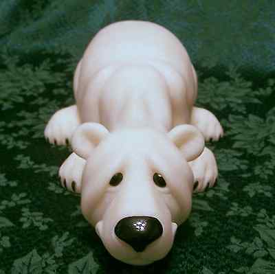 "Quarry Critters Polar Bear XL Mint in Box Figurine New 'Pops' #45707 14"" Long"