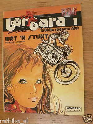 Dutch Comic Motorcycle Barbara 1 Wat Een Stunt 1981 Lombard  Janeiro