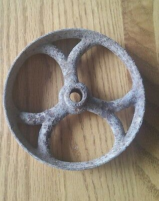 """Antique Solid Heavy Duty Cast Iron Cart Wheels Casters 4 1/2"""""""