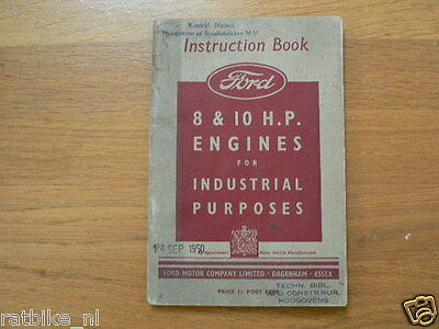 Ford 4 Cylinder 8 Hp & 10 Hp Industrial Handbook,Englis