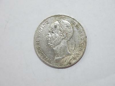 Netherlands 1846 2 1/2 Gulden Willem Ii Crown Silver Coin Old Collection Lot