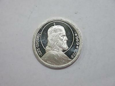 Hungary 1938 5 Pengo Proof Death St Stephan Crown Silver Coin Old Collection Lot