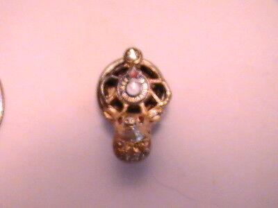 Antique Vintage Elks Club Bpoe Pin Gold Tone With Stone Sterling Frog Dd