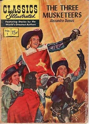 Classics Illustrated 001 The Three Musketeers (1946) #17 VG 4.0 LOW GRADE