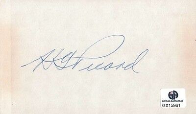 Henry Picard Signed Autographed Index Card PGA Golf Legend Masters GX15961