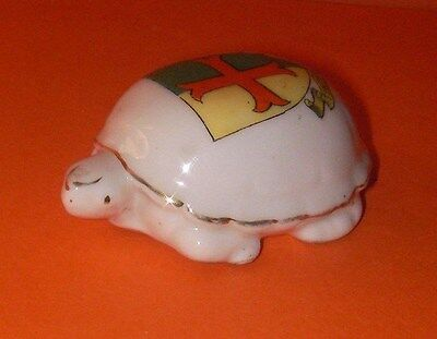 Arcadian Crested China Tortoise Tintern Abbey Crest