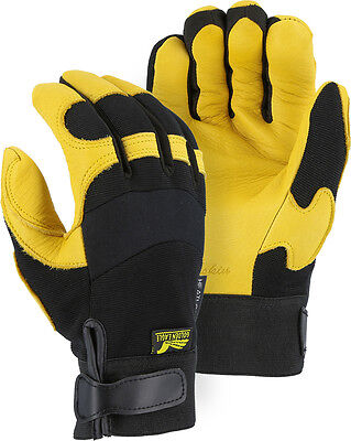 Golden Eagle mechanics INSULATED deerskin gloves leather work riding 2150H