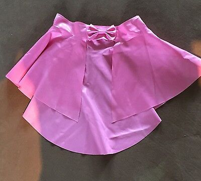 Open Front Pink Latex Skirt Fetish Kawaii Baby girl