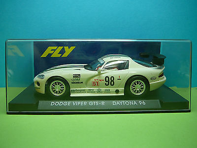 Fly Dodge Viper In White 1:32Nd Scale Slot Racing Car Ref A1