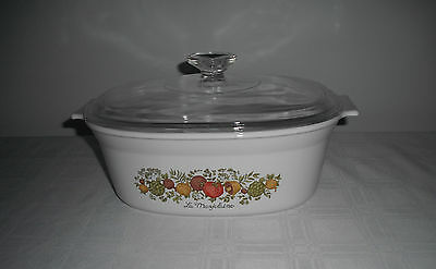 Retro  La Mayolaine  Corning Ware  Rectangle 2.5 Litre  Casserole Dish with Lid