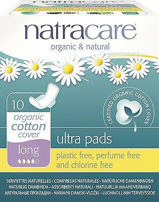 Natracare - Ultra with Wings - Long - 10 count