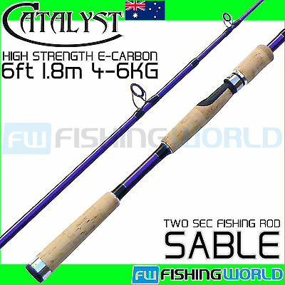 CATALYST SABLE 180 6ft 1.8m 4-6kg E-Carbon Spinning Fishing Rod