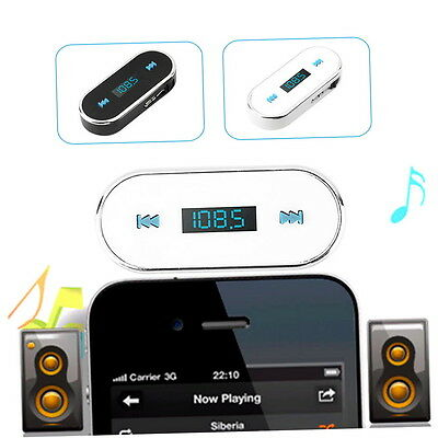 3.5mm Car Wireless FM Radio Transmitter For iPhone 5S 4S Smartphone GH