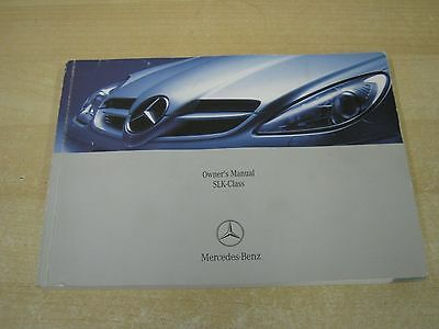 Mercedes-Benz Slk Owners Manual - Owners Guide - Owners Handbook 2004-2008