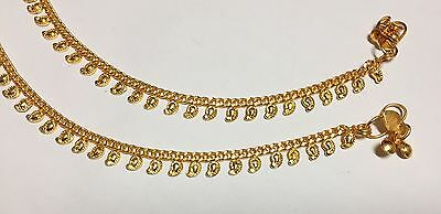 100% NEW Arrival Indian Pakistani Pair Of Anklet Payal Chain White Crystals UK