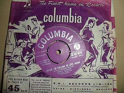 """Jimmie Rodgers.oh Oh I'm Falling In Love Again.columbia.7"""" Vinyl Single.45Rpm"""