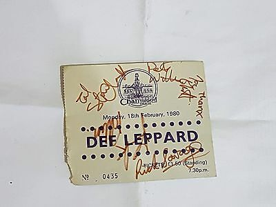 Def Leppard Autographed Ticket