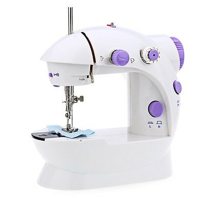 Mini 110V-220V Double Speed Automatic Thread Sewing Machine with Light